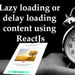 Lazy loading content reactjs